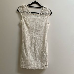 Hollister Lace Scoop Back Fitted Dress